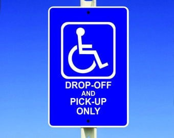 Drop Off Aluminum Sign
