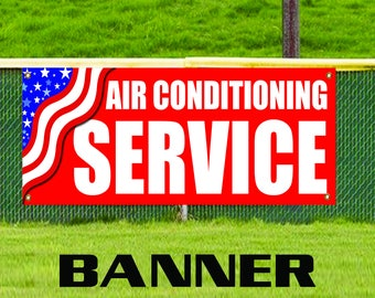 Air Conditioning Service Vinyl Banner Sign Cooling Technician Cold Maintenance