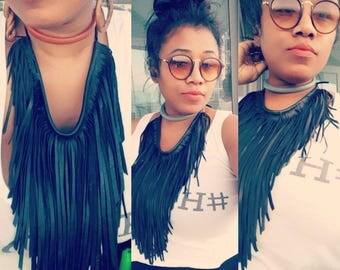XL & XXL Fringe Choker Necklaces