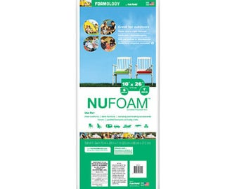 NuFoam™ Pad – 10″ X 26″ – 6pc, 100% Polyester, Foam for crib bumpers, Nufoam Baby Bumper Pads Batting Foam Pads