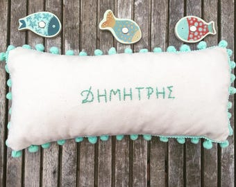 Name pillow,handmade pillow for girls,nursery decor,nursery pillow,personalized pillow,baby gift,baby girl gift,baby shower gifts