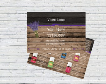 YL Essential Oil Usage Post Card, Business Tools, Essential Oils, Printable, Digital File, Marketing Material, Independent Distributor,