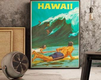 Hawaii Travel Poster - Travel Poster - Travel Gift - Hawaiian Decor - Wall Art Print - Travel - Vintage Hawaii - Vintage Hawaii Poster