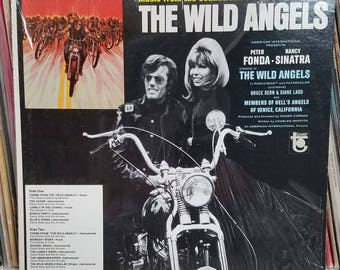 The Wild Angels OST LP most of shrink on jacket Peter Fonda Nancy Sinatra Tower Records T 5043 The Visitors Davie Allan and The Arrows