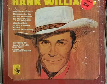 Hank Williams Self Titled 1950s Early Country LP Still In Shrink Metro Records M-509