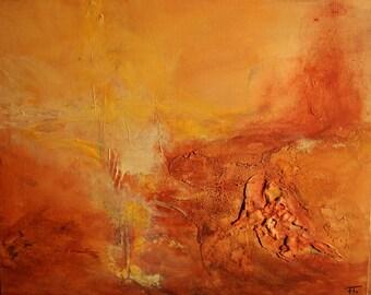 Abstract modern painting desert 33x41cm