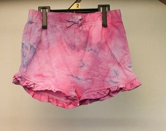Tie Dyed Girls Shorts - Cotton - Girls - Boho - Beach - Gypsy - Yoga - FREE SHIPPING within AUS