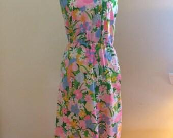 1970s Floral Sundress