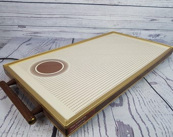 Vintage Electric Hot Plate Tray Automatic Food Warmer Retro Heater Small Kitchen Appliance Collectible Cooker Still Works!
