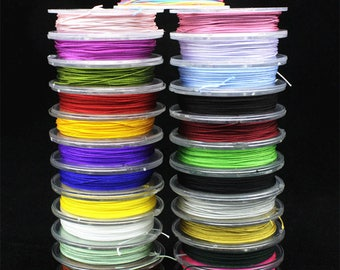 0.4mm Cord macrame Knot Rope 10 meter Bracelet Making Rope Chinese Knotting Cord, 340 meters 24 colors XY058