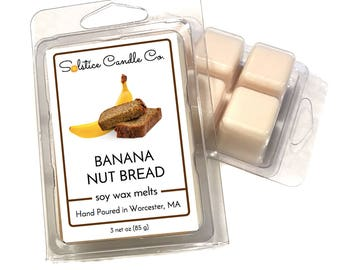 Banana Nut Bread Soy Wax Melts | 3 oz | All Natural | Hand Poured | Candle Melts | Soy Wax Tarts | Bakery | Home Decor
