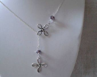 """necklace """"double silver charms and beads"""""""