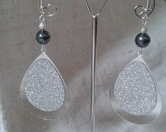 "Earrings ""big bright drop"""