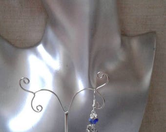 "Earrings ""Silver kitten"""