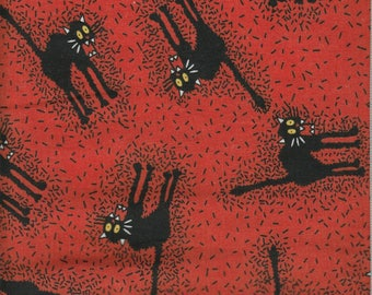 Scared Cats Cotton Woven Quilting Fabric
