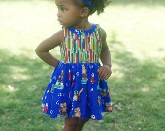 Back To School Dress with Collar