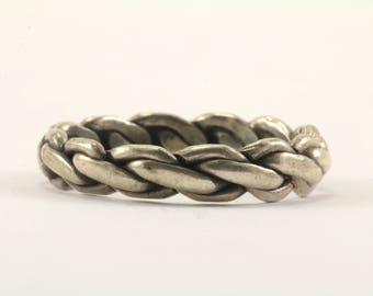 Vintage Braid Ring 925 Sterling Silver RG 2724
