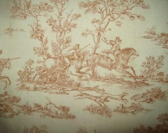 vintage fabric, Web of Jouy, hunting, hunting print