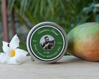 Gunners Blend 60ml Mango Vanilla Moustache Wax - Natural - Australian Made
