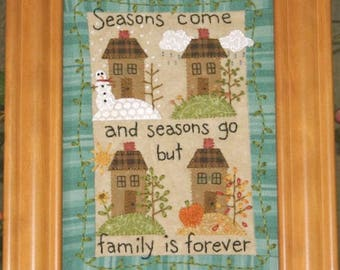 """Wool Penny Rug Pattern from Bareroots for 4 seasons 5 x 7""""  Little Stitchies  Collect them all!"""