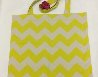 Ethically sourced cotton handmade large tote bag
