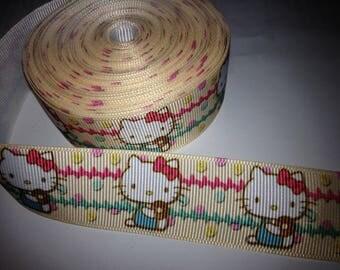Ribbon wholesale GRAIN background-white cat beige customization