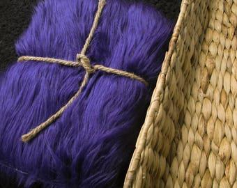 "18x20 Purple Wide Luxury Shag-Fur 2"" Pile Newborn Cuddly Faux Fur Nest Newborn, Photo prop"
