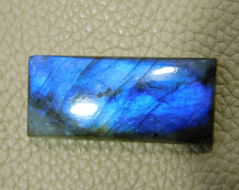 Very Rare ! Natural Blue Labradorite Cabochon Loose Gemstone 36.00 Cts  15x33  MM Approx Rectangle Shape Blue Power Smooth Polish