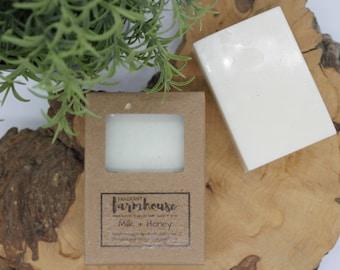 Milk + Honey - Bar Soap - Goats Milk - All Natural - Farmhouse - Fresh  - Natural Soap - Goats Milk - Handmade Soap - Sensitive Skin