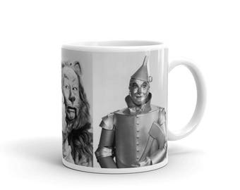 Wizard of Oz Cast Scarecrow, Lion and Tin Man Mug
