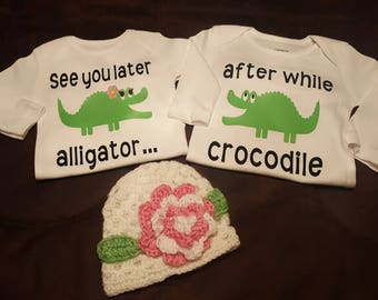 Twins, Newborn Onesie (Bodysuit) Set, Super Adorable and Can Accommodate If For Two Boys or Two Girls