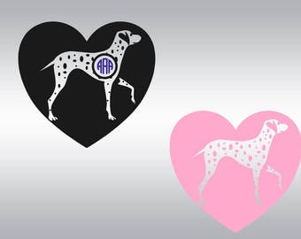 Dalmatian dog  heart love SVG Clipart Cut Files Silhouette Cameo Svg for Cricut and Vinyl File cutting Digital cuts file DXF Png Pdf Eps