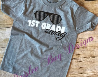 Back To School Shirt, Personalized Back To School Shirt, Boys Back To School Shirt, 1st Grade Swag, Swag Shirt, 1st Day of School Shirt