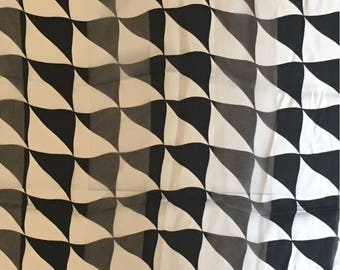 Oversized Vintage Escada Scarf in Modern Black/White Design