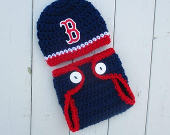 Boston Red Sox Newborn Red Sox Outfit Baby Red Sox Baby Boy Baseball Newborn Boy Baseball Baby Photo Outfit