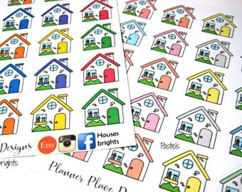 House Stickers - Real Estate Stickers - Mailer - Planner Stickers - Erin Condren Stickers - Happy Planner Stickers - Functional Stickers