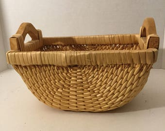 Straw Basket/Woven Basket/Rustic Home Decor