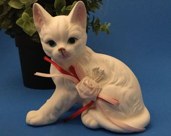 Vintage Ceramic Cat Figurine