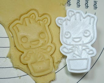 Groot Cookie Cutter and Stamp