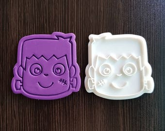 Frankenstein Face Cookie Cutter and Stamp