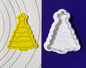 Christmas Tree Cookie Cutter and Stamp