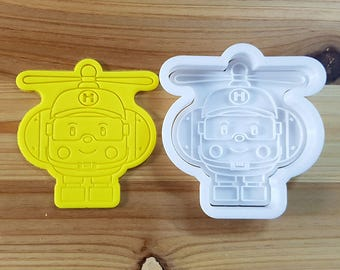 Robocar Poly - Helly Cookie Cutter and Stamp