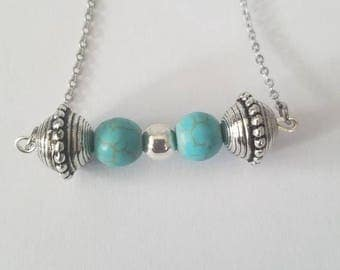 Turquoise necklace-bar style