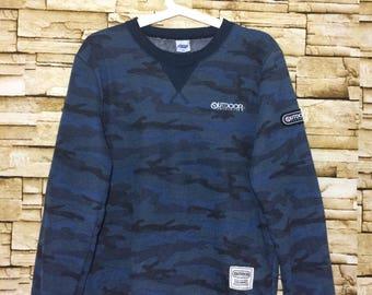 Vintage 90's OUTDOOR camouflage sweatshirt medium size