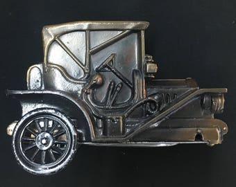 Vintage Banthrico Chicago 1908 Diecast Car Coin Bank