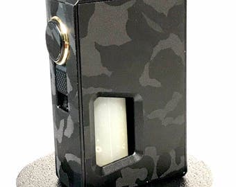 Athena Squonker Vape skin wrap Black Color Shifting Camo skin wrap by Jwraps