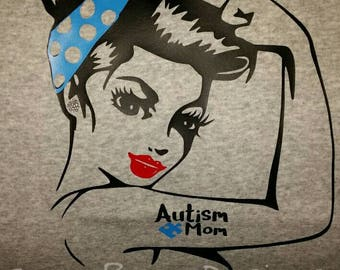 Custom Autism Mom |  Autism Awareness | | Girl Mom | Boy Mom | Mom life | Fitted Tee