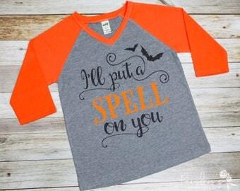 I'll Put A Spell On You - Halloween Tshirt - Halloween - Bat Shirt - Girls Halloween Shirt - Cute Halloween Shirt - Toddler Halloween