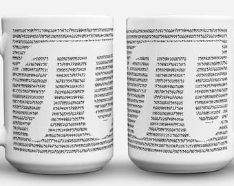 Pi Number coffee numberphile math mug