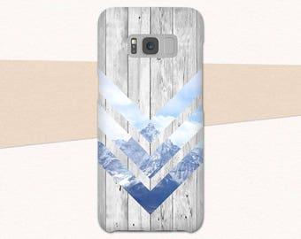 White Wood Galaxy S8 Plus Case, Mountain Galaxy S8 Case, Galaxy A5 Phone Case, Galaxy Case A3, Geometric Samsung Galaxy S8 Case, S7 Edge S6
